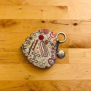 Coach Accessories - Adorable Heart Shaped Coach Coin Purse
